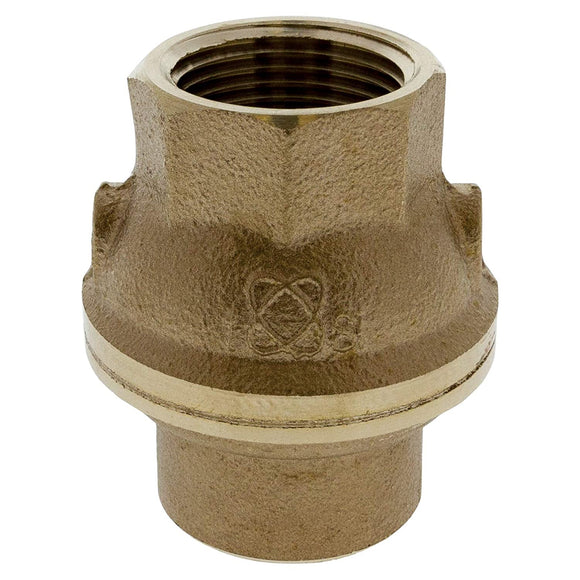 "Nibco T480YLF34 T-480-Y-LF Silicon Bronze Check Valve, Inline, PTFE Seat, 3/4"" Female NPT Thread (FIPT)"