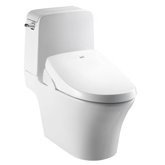 BioBidet Luxury A8 Serenity Bidet Toilet Seat with Remote, White