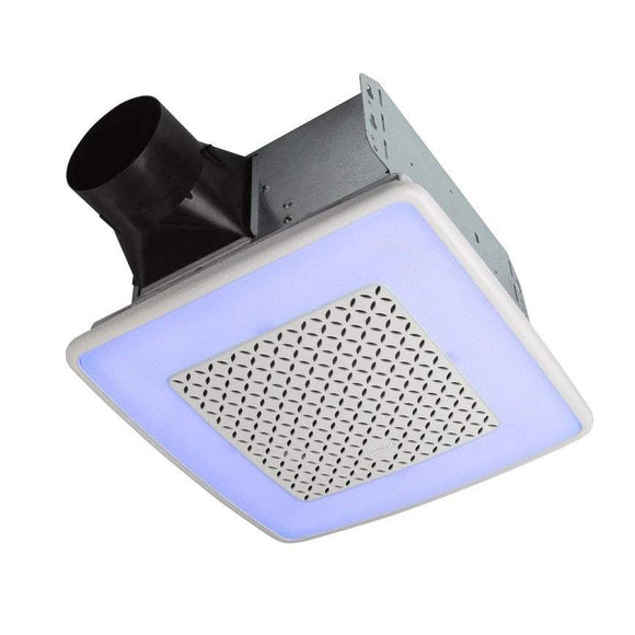 Broan NuTone Broan ChromaComfort Ventilation Fan with Multicolor LED Light and Control