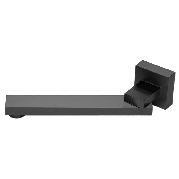 ALFI Brand AB7701-BM Black Matte Square Foldable Tub Spout