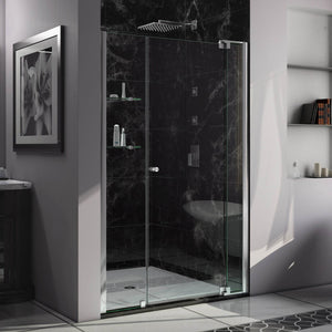 "DreamLine SHDR-4242728-01 Allure 42-43""W x 73""H Frameless Pivot Shower Door in Chrome"