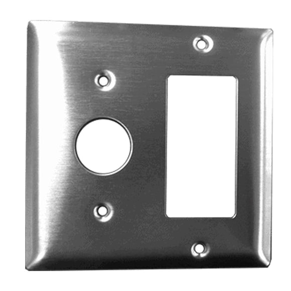 Amba AR-DGP-B Radiant Double Gang Plate, Brushed Finish