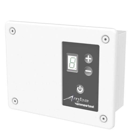 Amba ATW-DHCR-W Remote Digital Heat Controller for Antus, Quadro, Sirio and Vega Collections in White