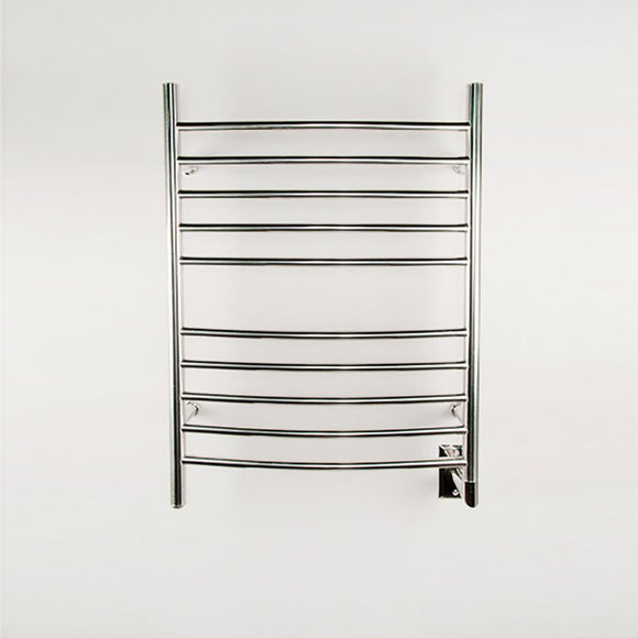 Amba RWH-CB Radiant Hardwired Curved Towel Warmer with 10 Curved Bars in Brushed Finish