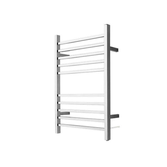 Amba RSWP-B Radiant Square Plug-In Towel Warmer with 10 Straight Bars in Brushed Finish