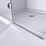 "DreamLine SHDR-3636580-EX-01 Aqua Fold 56-60""W x 58""H Frameless Bi-Fold Tub Door with Extender Panel in Chrome"