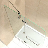 "DreamLine DL-6521R-01CL Aqua Ultra 32""D x 60""W x 74 3/4""H Frameless Shower Door in Chrome and Right Drain White Base Kit"