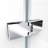 "DreamLine DL-6521C-01CL Aqua Ultra 32""D x 60""W x 74 3/4""H Frameless Shower Door in Chrome and Center Drain White Base Kit"