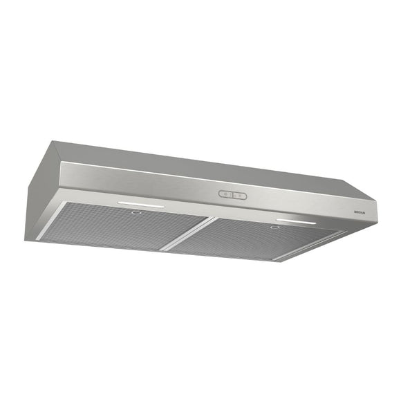 "Broan BCDF136SS Glacier Deluxe BCDF1 Series 36"" Convertible Under-Cabinet Range Hood, 300 CFM, Stainless Steel"