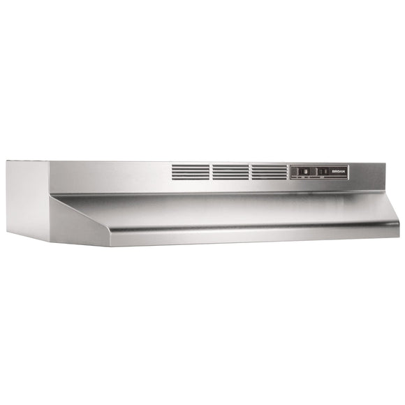 Broan 413004 30-Inch Ductless Under-Cabinet Range Hood, Stainless Steel, ADA Compliant