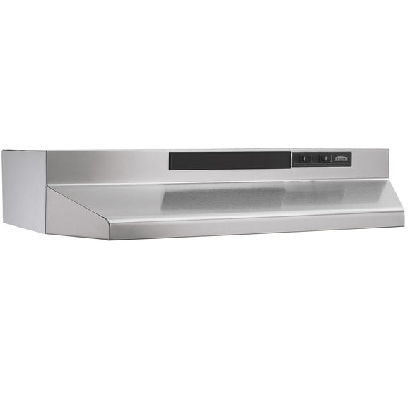"Broan F403004 30"" Convertible Under-Cabinet Range Hood, 160 CFM, Stainless Steel"