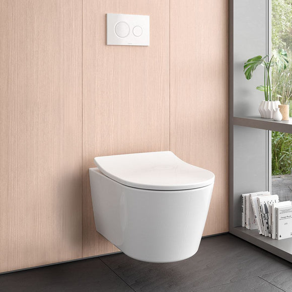 TOTO CT447CFG#01 RP Wall-Hung Dual Flush 1.28 and 0.9 GPF Toilet, Cotton White