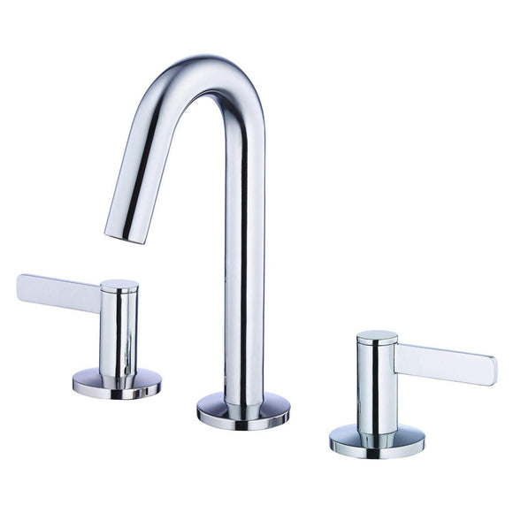 Gerber Danze D303130 Amalfi Trim Line 2H Widespread Bathroom Faucet with Metal Touch Down Drain 1.2gpm Chrome