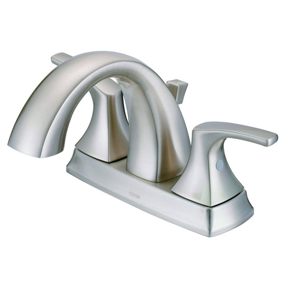 Gerber Danze D307018BN Vaughn 2H Centerset Bathroom Faucet with Metal Pop-Up Drain 1.2gpm Brushed Nickel