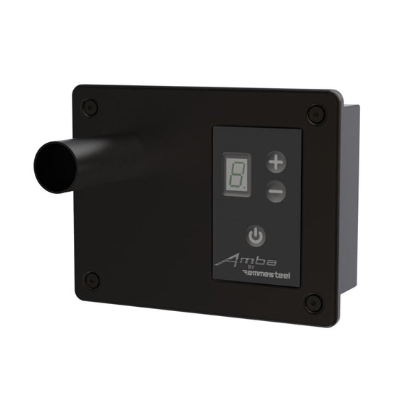 Amba ATW-DHC-MB Digital Heat Controller for Antus, Quadro, Sirio and Vega Collections in Matte Black Finish