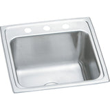 "Elkay DLR1919103 Lustertone Stainless Steel 19-1/2"" x 19"" x 10-1/8"" 1-Bowl Top Mount Laundry Sink"