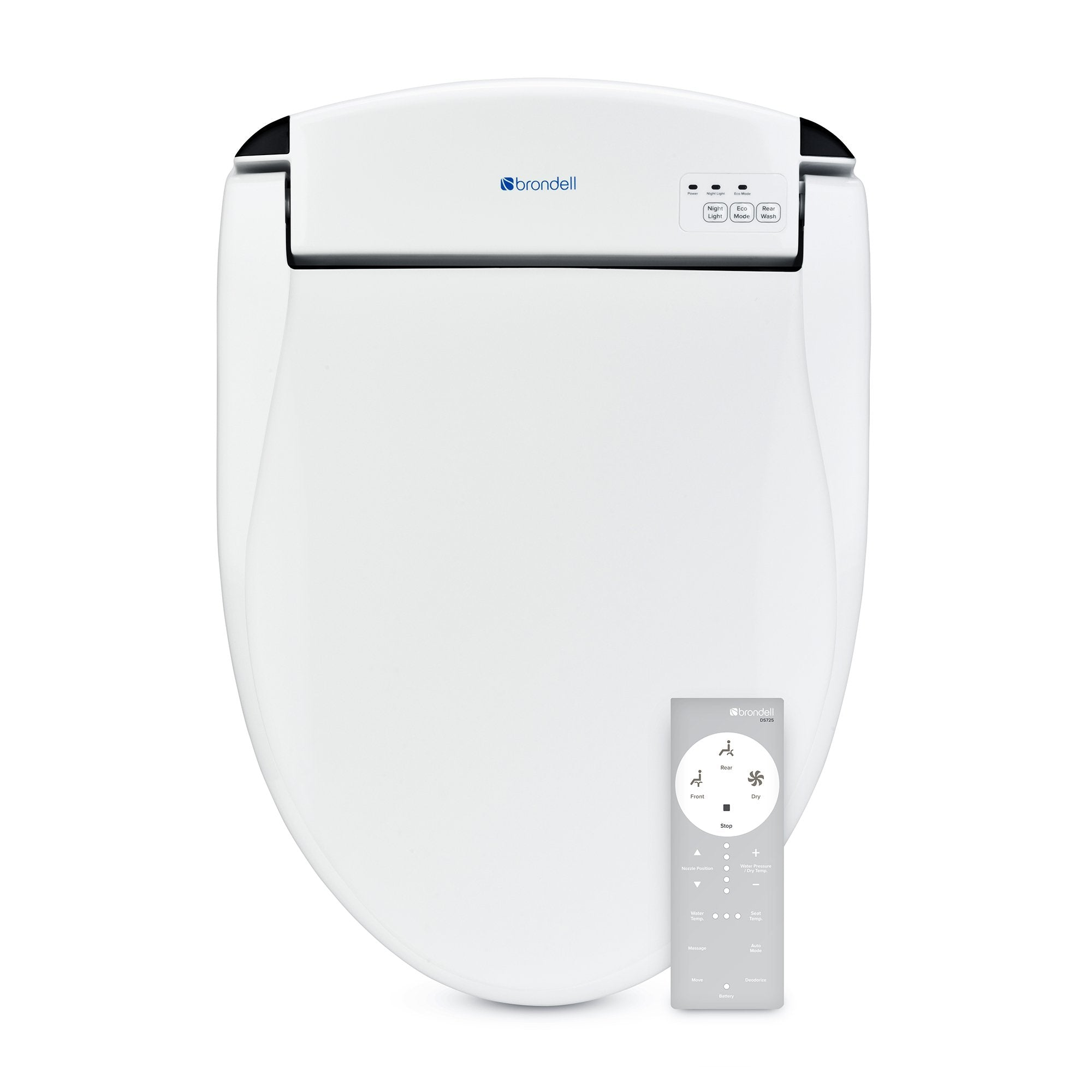 Genuine Brondell Swash Ds725 Rw Advanced Bidet Toilet Seat For Round Toilets In White Bath4all