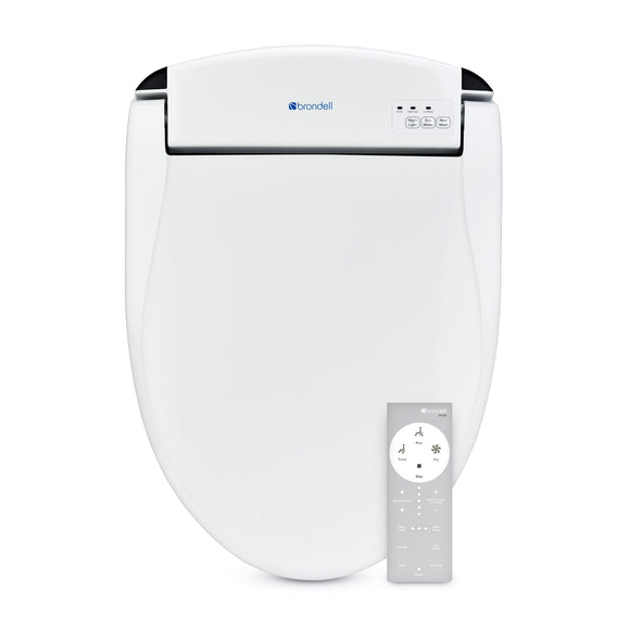 Brondell Swash DS725-RW Advanced Bidet Toilet Seat for Round Toilets, White