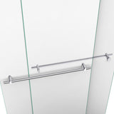 "DreamLine DL-6952C-01CL Duet 34""D x 60""W x 74 3/4""H Semi-Frameless Bypass Shower Door in Chrome and Center Drain White Base"