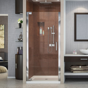 "DreamLine SHDR-4134720-01 Elegance 34-36""W x 72""H Frameless Pivot Shower Door in Chrome"