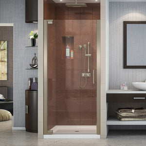 "DreamLine SHDR-4128720-04 Elegance 28 3/4 - 30 3/4""W x 72""H Frameless Pivot Shower Door in Brushed Nickel"