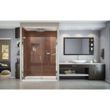 "DreamLine SHDR-4158720-01 Elegance 58-60""W x 72""H Frameless Pivot Shower Door in Chrome"