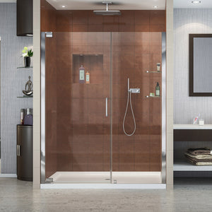 "DreamLine SHDR-4151720-01 Elegance 51-53""W x 72""H Frameless Pivot Shower Door in Chrome"