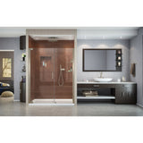 "DreamLine SHDR-4159720-04 Elegance 59 3/4 - 61 3/4""W x 72""H Frameless Pivot Shower Door in Brushed Nickel"