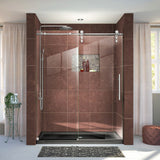 "DreamLine SHDR-6260760-08 Enigma-Z 56-60""W x 76""H Fully Frameless Sliding Shower Door in Polished Stainless Steel"