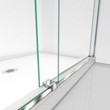 "DreamLine SHDR-6360760-04 Essence 56-60""W x 76""H Frameless Bypass Shower Door in Brushed Nickel"