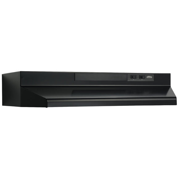 Broan F40000 Series 36-Inch Convertible Under-Cabinet Range Hood, 160 CFM, Black