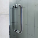 "DreamLine DL-6218C-01CL Flex 36""D x 36""W x 76 3/4""H Semi-Frameless Shower Door in Chrome with White Base and Backwalls"