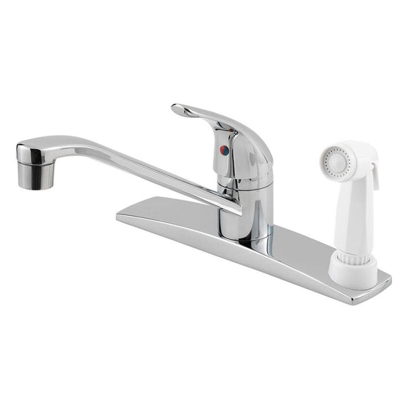 Pfister G134-3444 Pfirst Kitchen Faucet with Side Spray in Polished Chrome