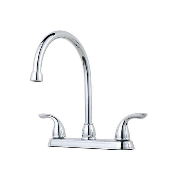 Pfister G136-2000 Pfirst Series Double Handle Kitchen Faucet in Polished Chrome