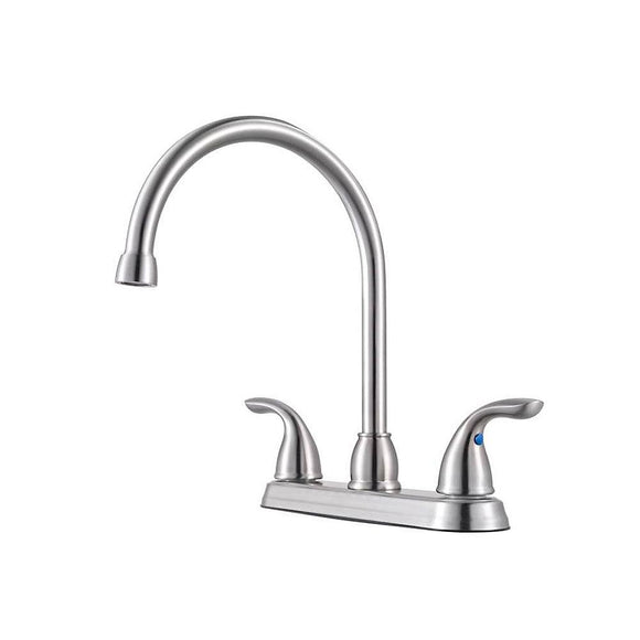 Pfister G136-200S Pfirst Series Double Handle Kitchen Faucet in Stainless Steel