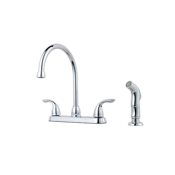 Pfister G136-5000 Pfirst Kitchen Faucet with Side Spray in Polished Chrome