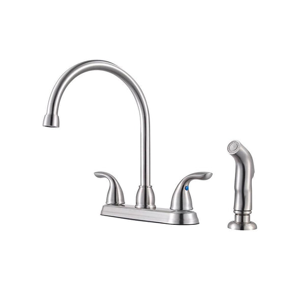 Pfister G136-500S Pfirst Kitchen Faucet with Side Spray in Stainless Steel