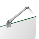 "DreamLine DL-6522L-01CL Aqua Ultra 34""D x 60""W x 74 3/4""H Frameless Shower Door in Chrome and Left Drain White Base Kit"