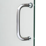 "DreamLine DL-6973R-04CL Infinity-Z 36""D x 60""W x 74 3/4""H Clear Sliding Shower Door in Brushed Nickel and Right Drain White Base"
