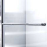 "DreamLine DL-6119L-04FR Infinity-Z 36""D x 60""W x 76 3/4""H Frosted Sliding Shower Door in Brushed Nickel, Left Drain Base, Backwalls"