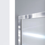 "DreamLine DL-6975C-01FR Infinity-Z 36""D x 48""W x 74 3/4""H Frosted Sliding Shower Door in Chrome and Center Drain White Base"
