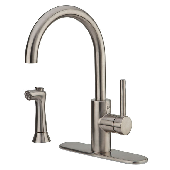 Pfister LF-029-4SLS Solo Kitchen Faucet with Side Spray in Stainless Steel