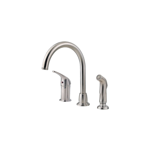 Pfister LF-WK1-680S Cagney Kitchen Faucet with Side Spray in Stainless Steel