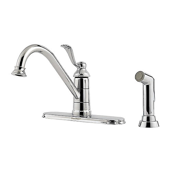Pfister LG34-4PC0 Portland Kitchen Faucet with Side Spray in Polished Chrome