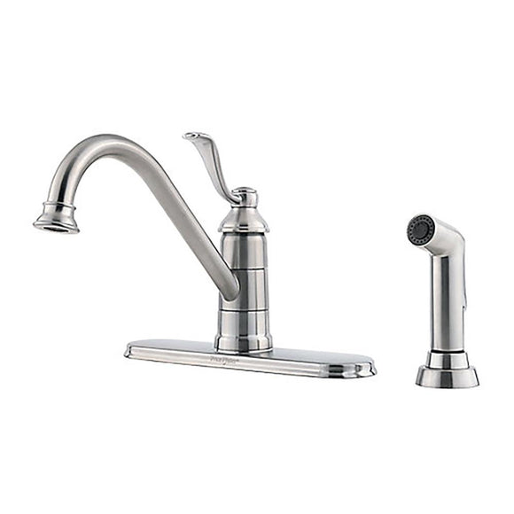 Pfister LG34-4PS0 Portland Kitchen Faucet with Side Spray in Stainless Steel
