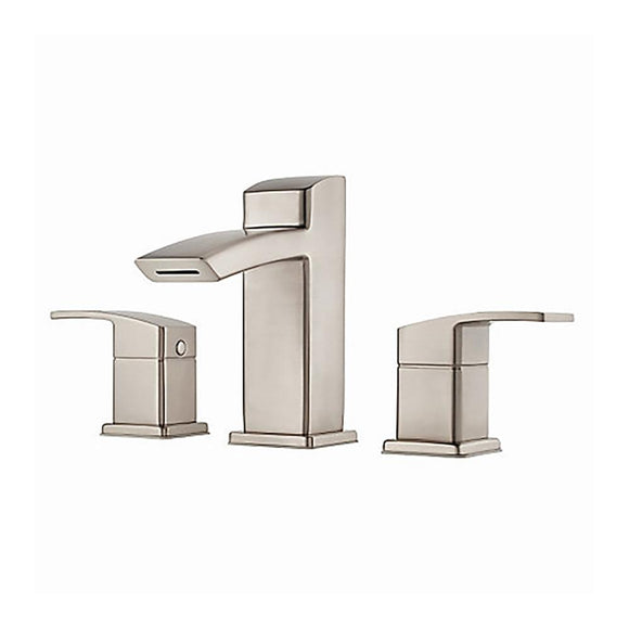 "Pfister LG49-DF2K Kenzo Double Handle 8"" Widespread Bathroom Faucet in Brushed Nickel"