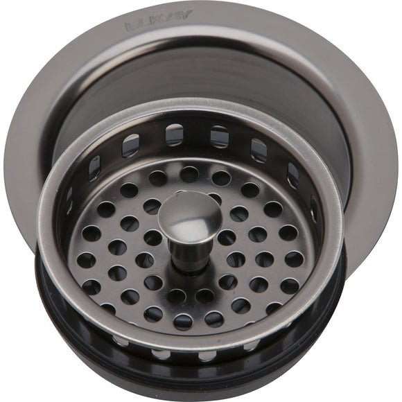 "Elkay LKD35AS 3-1/2"" Drain Fitting Antique Finish Disposer Flange and Removable Strainer"