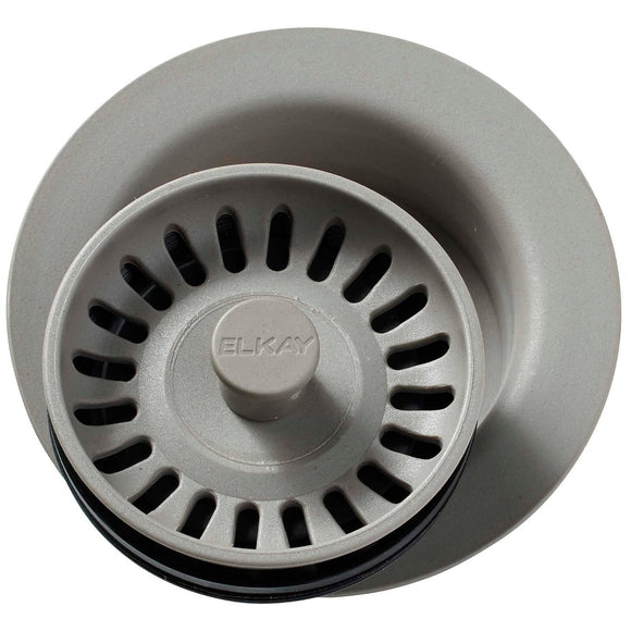 Elkay LKQD35GR Polymer Disposer Flange, Removable Strainer and Rubber Stopper Greige