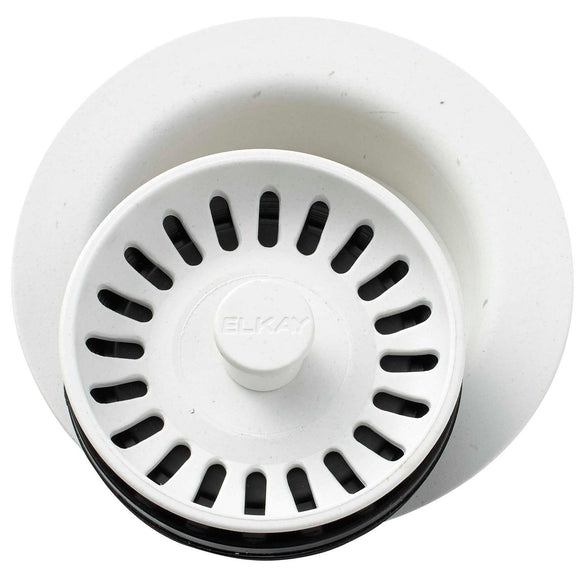 Elkay LKQD35RT Polymer Disposer Flange, Removable Strainer and Rubber Stopper Ricotta