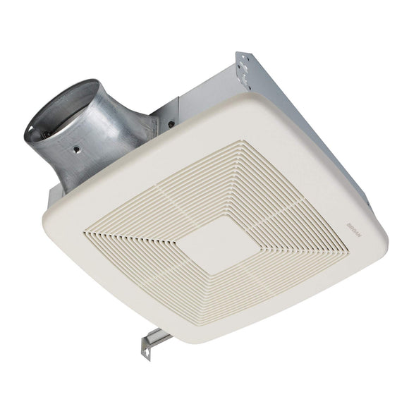 Broan NuTone Lo-Profile 50/80/100 Selectable CFM Bathroom Exhaust Vent Fan, ENERGY STAR